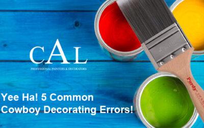 Yee Ha! 5 Common Cowboy Decorating Errors!