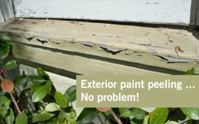 Exterior Paint Peeling – No Problem